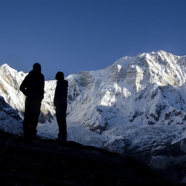"""Annapurna I(8091m)"" stock image"