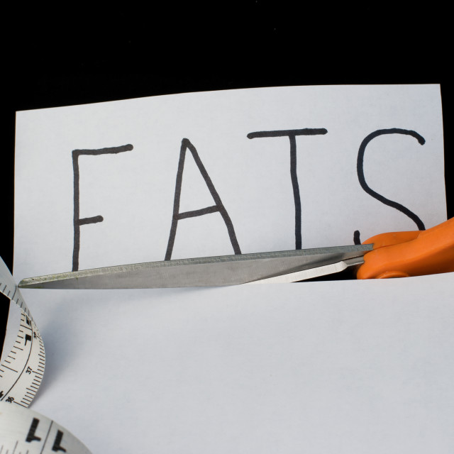 """""""Diet: Cutting out fats"""" stock image"""