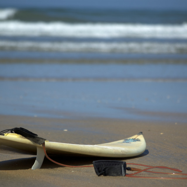 """lonely surf board"" stock image"