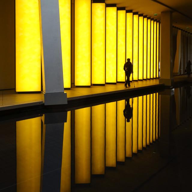 """Inside the Horizon"" at Louis Vuitton Foundation"" stock image"