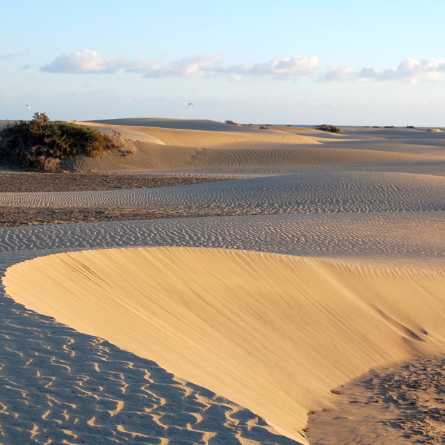"""Dunes at Maspalomas"" stock image"