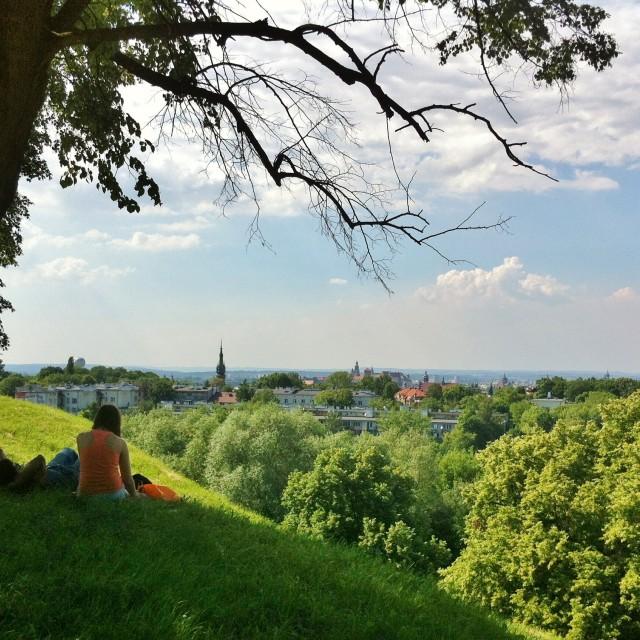 """""""View from Krak's Mound, Krakow Poland"""" stock image"""