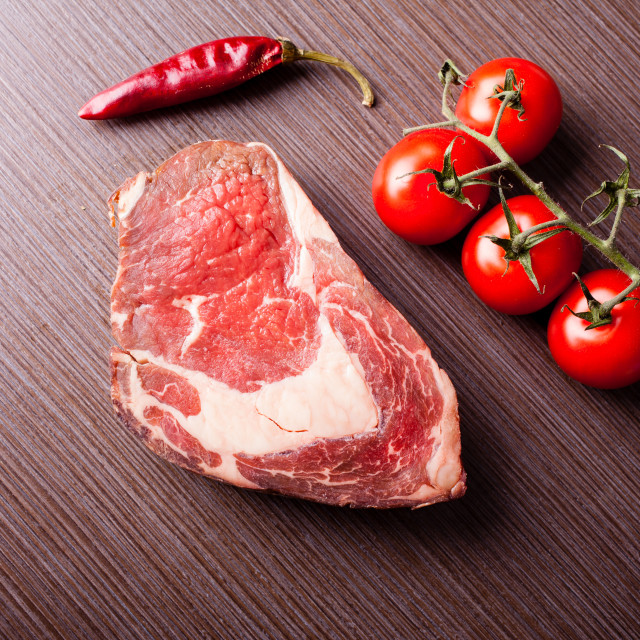 """Raw beef steak"" stock image"