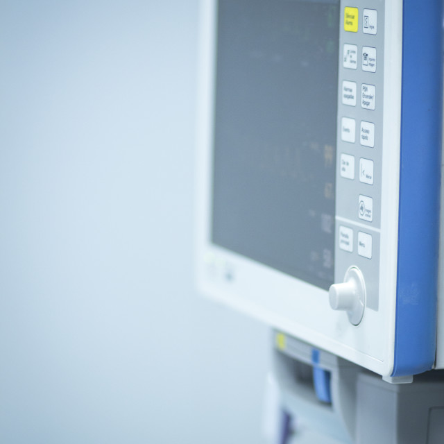 """""""Hospital surgery heart rate monitor screen"""" stock image"""
