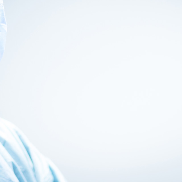"""""""Surgeon in hospital surgery operating room"""" stock image"""