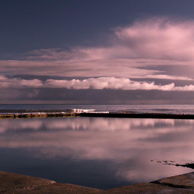"""""""Cloud reflections."""" stock image"""