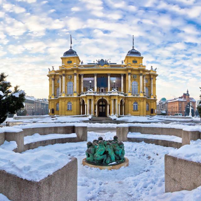 """Marshal Tito square in Zagreb panorama"" stock image"