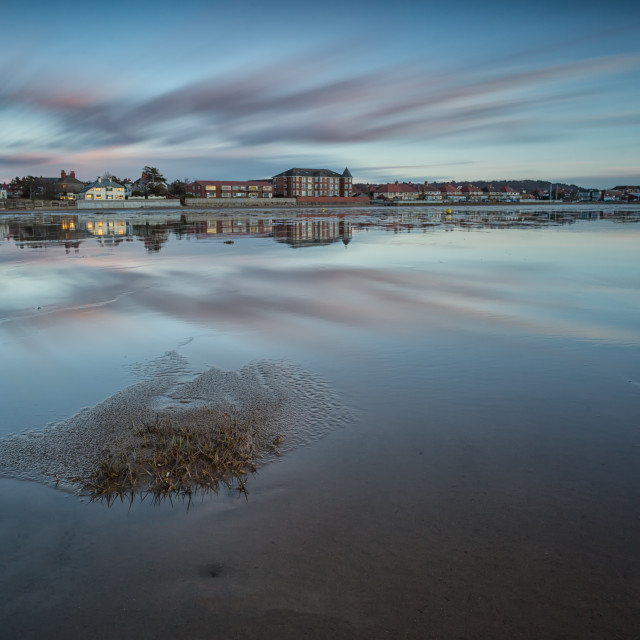 """West Kirby Reflections"" stock image"