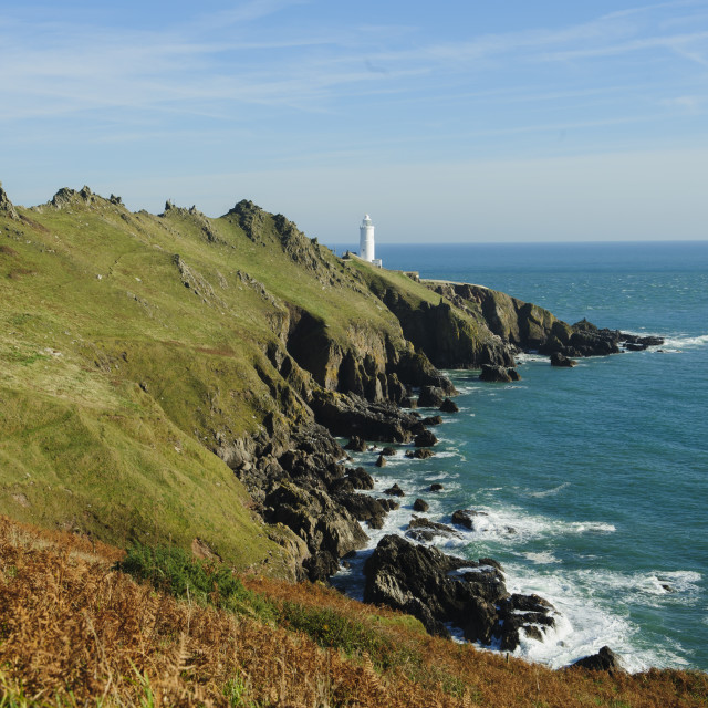 """""""Start Point and its Lighthouse"""" stock image"""
