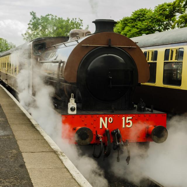 """Steam train on the Avon Valley Railway"" stock image"