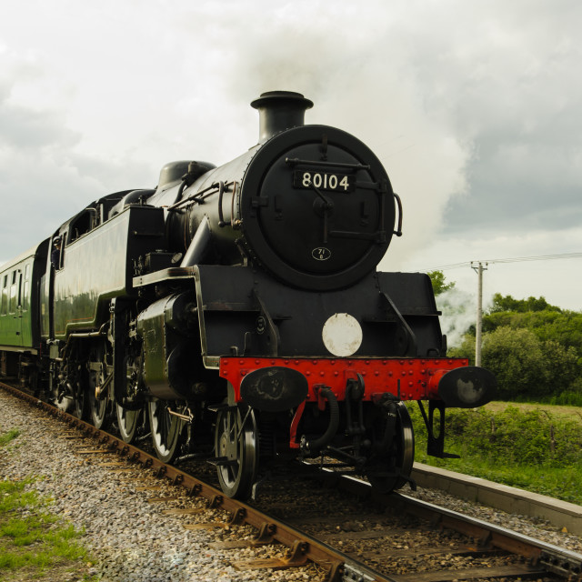 """Steam train on the Swanage Railway"" stock image"