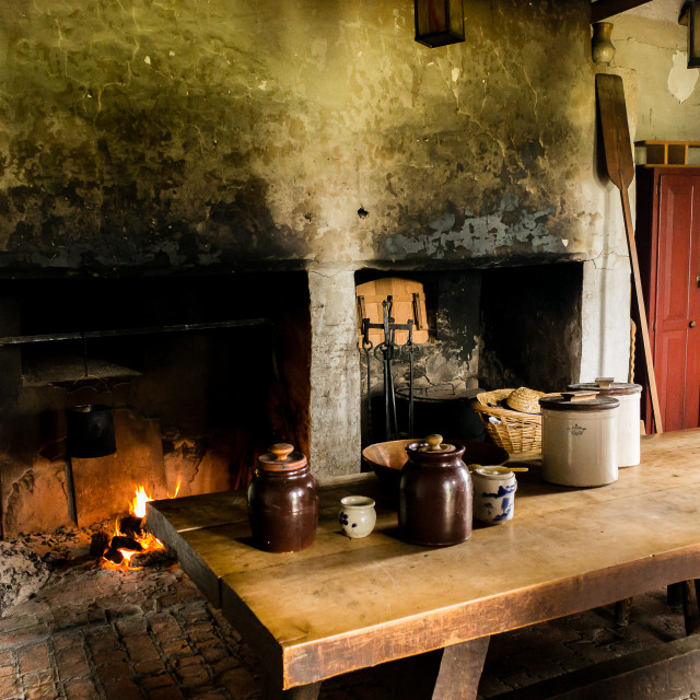 """Kitchen, Fort Niagara"" stock image"