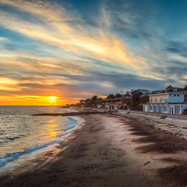 """Lonely Beach January Sunset"" stock image"