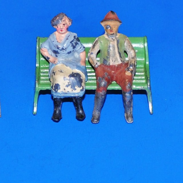 """Elderly Couple on a Park Bench"" stock image"