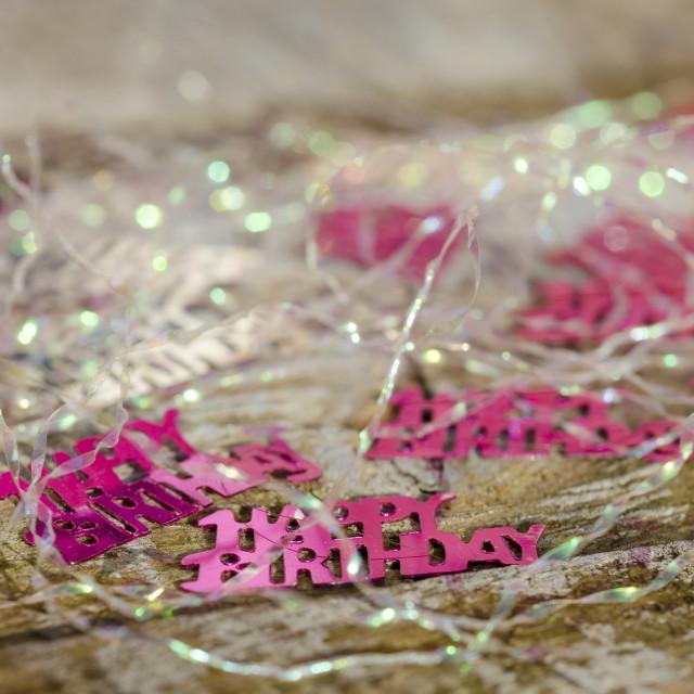 """""""Happy Birthday Decorations"""" stock image"""
