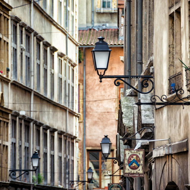 """""""The old side of Lyon"""" stock image"""