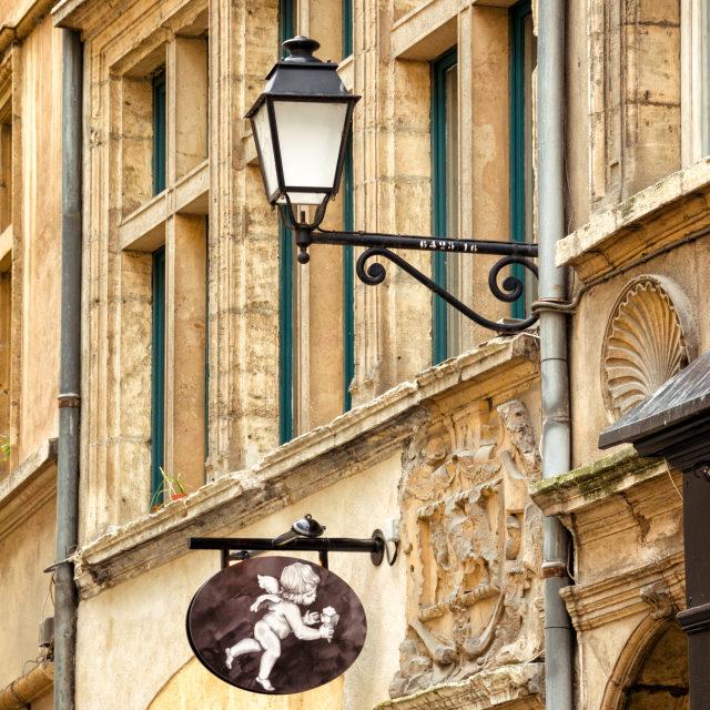 """""""Walking in Lyon"""" stock image"""