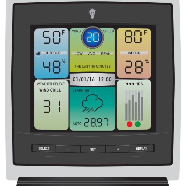"""Modern gadget Weather station"" stock image"