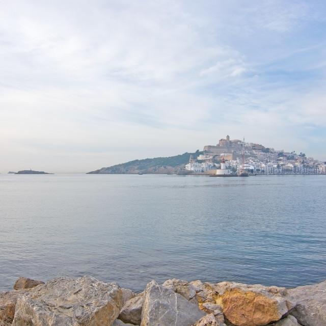 """Dalt Vila on Ibiza Town hill"" stock image"
