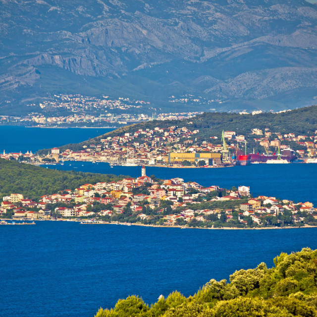 """Trogir bay Adriatic archipelago view"" stock image"