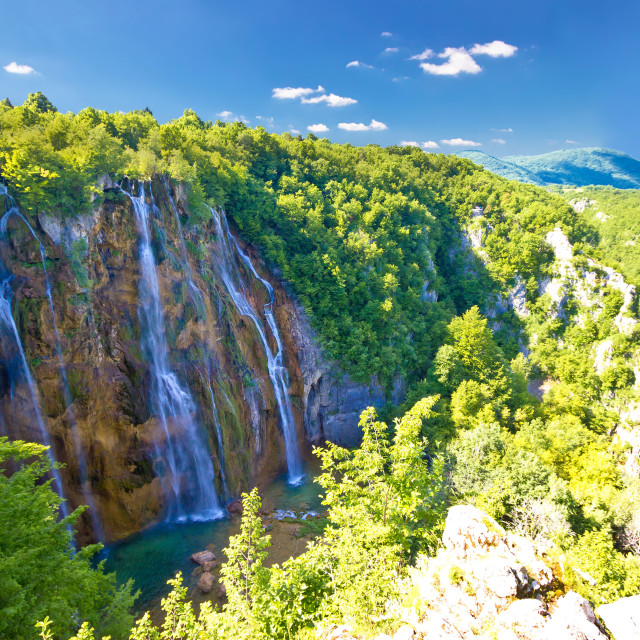 """Biggest waterfall in Croatia - Veliki slap"" stock image"