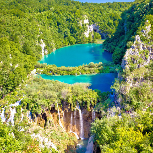 """Beautiful falling lakes of Plitvice national park"" stock image"