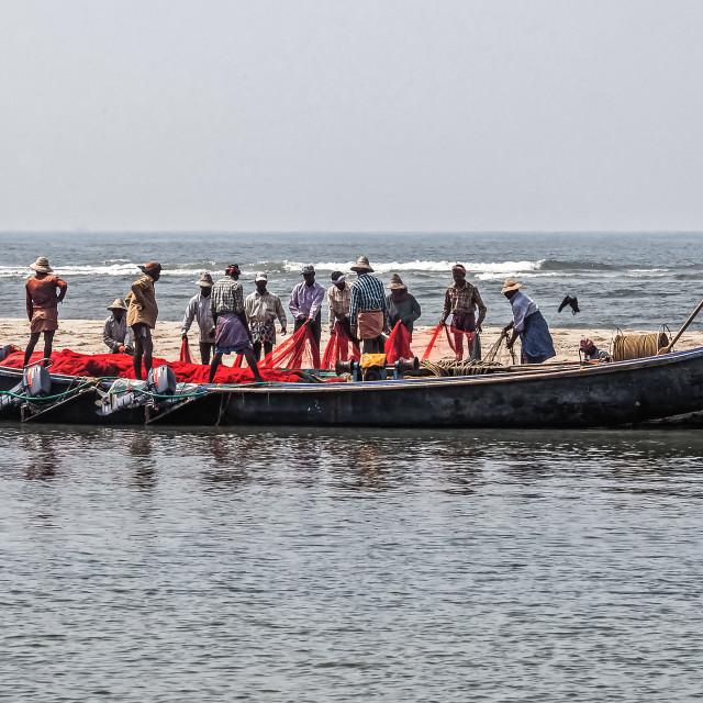 """Kerala fishermen"" stock image"