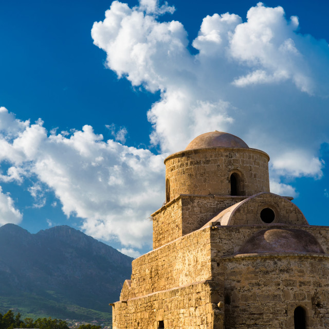 """Agios (Saint) Evlalios Abandoned Church. Kyrenia District, Cyprus"" stock image"