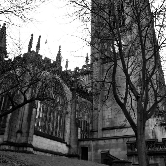"""""""Manchester Cathedral."""" stock image"""