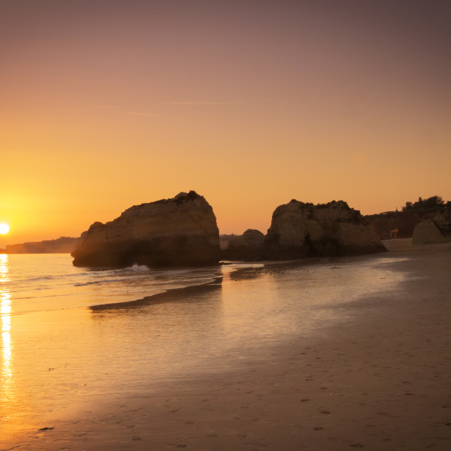 """Sunset at Algarve"" stock image"
