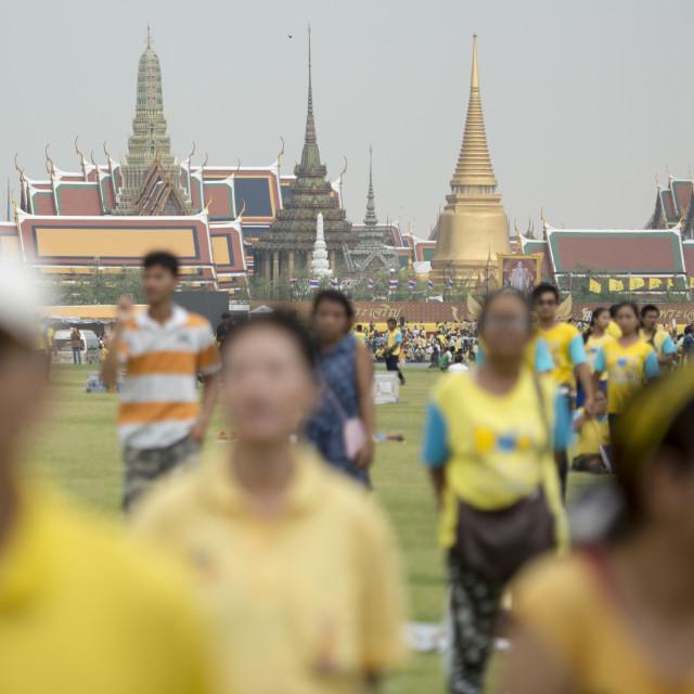 """THAILAND BANGKOK SANAM LUANG KING BIRTHDAY"" stock image"