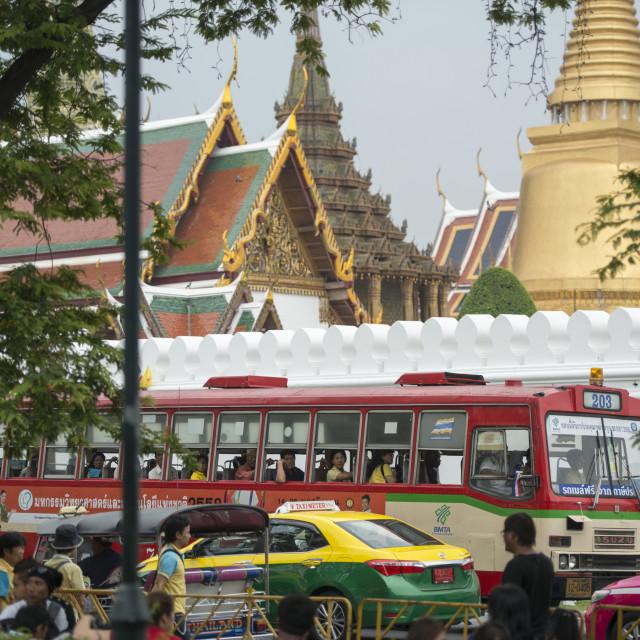 """THAILAND BANGKOK WAT PHRA KAEW BUS TRANSPORT"" stock image"