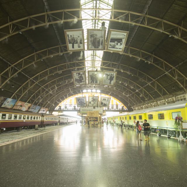 """""""THAILAND BANGKOK HUA LAMPHONG RAILWAY STATION ROYAL TRAIN"""" stock image"""