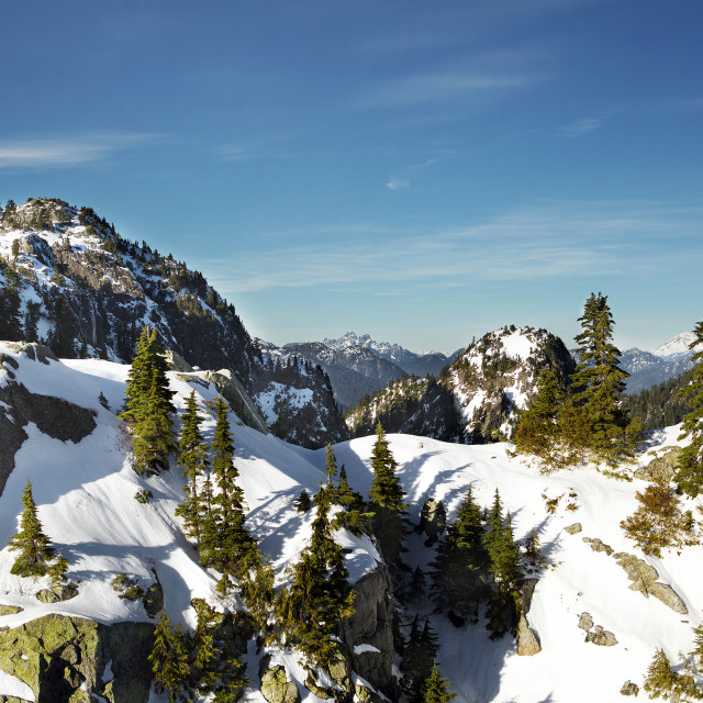 """Mount Seymour - First Peak - Vancouver,BC Canada"" stock image"