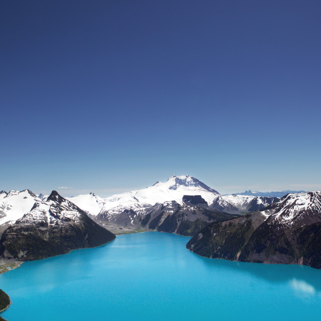 """Garibaldi Lake from Panorama Ridge"" stock image"