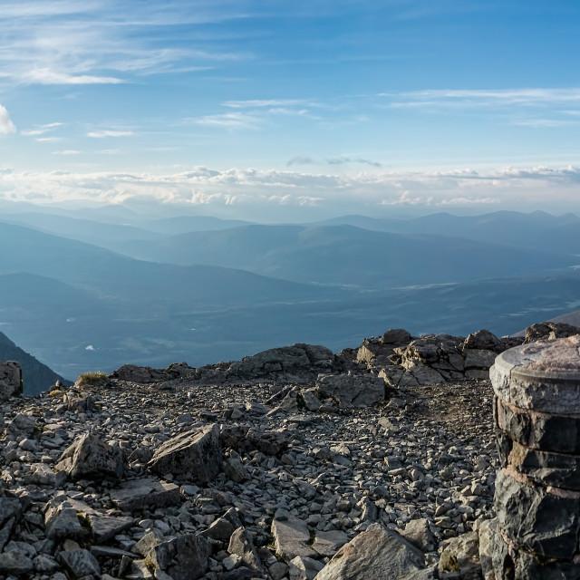 """""""Ben Nevis Summit"""" stock image"""