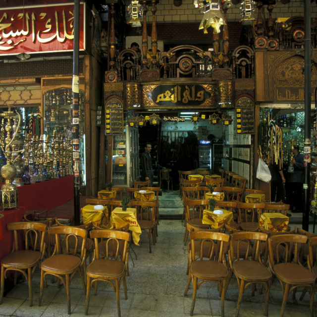 """AFRICA EGYPT CAIRO OLD TOWN MARKET TEA HOUSE"" stock image"