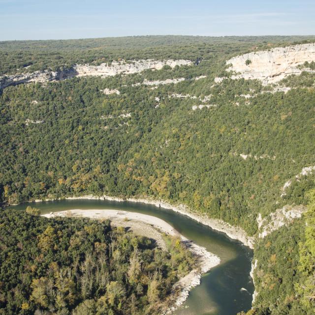 """""""Gorges de l'Ardeche"""" stock image"""