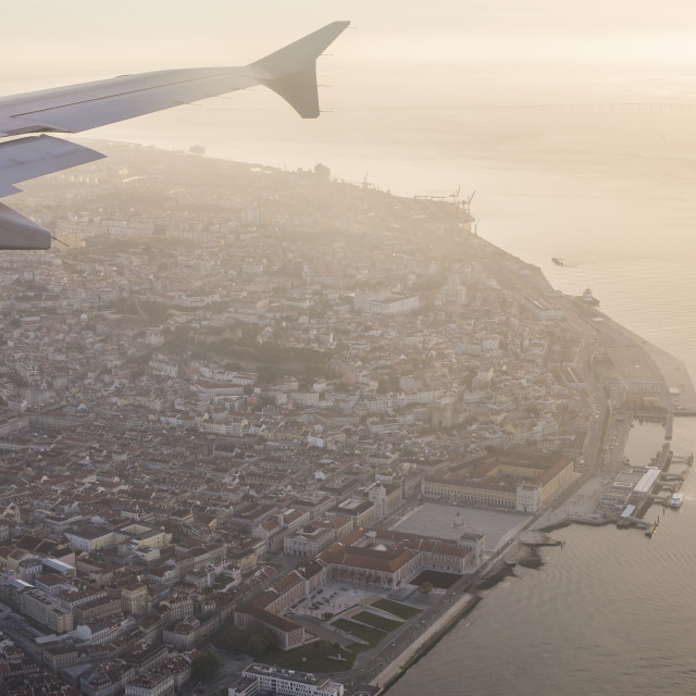 """Reaching Lisbon"" stock image"