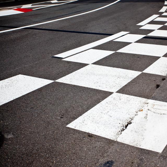 """Car race asphalt"" stock image"