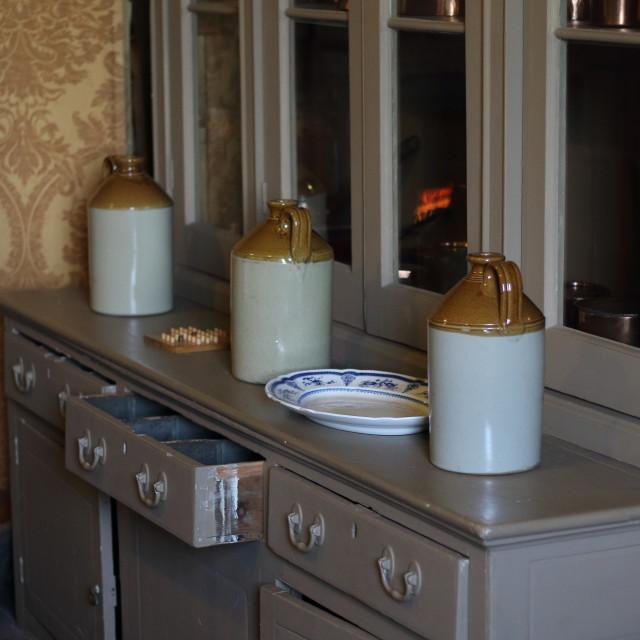 """Victorian Kitchen"" stock image"