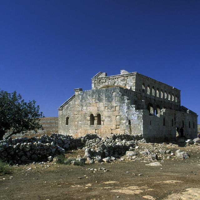 """""""MIDDLE EAST SYRIA ALEPPO BASILICA MUSHABBAK"""" stock image"""