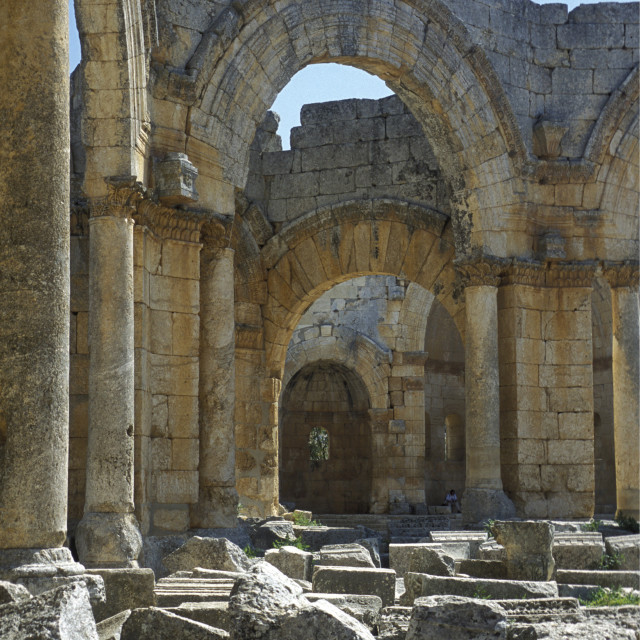 """MIDDLE EAST SYRIA ALEPPO DEIR SAMAAN ST SIMEON"" stock image"