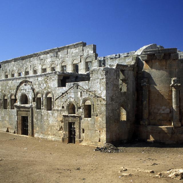"""MIDDLE EAST SYRIA ALEPPO BASILICA QALB LOZEH"" stock image"