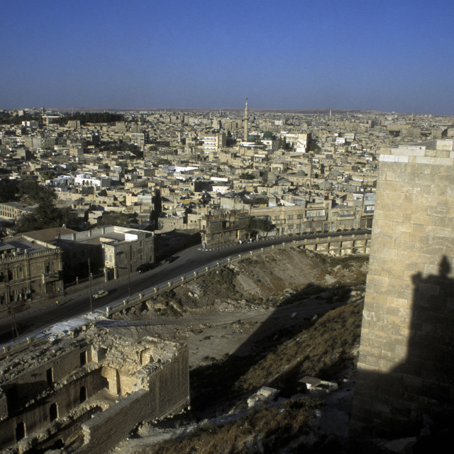 """""""MIDDLE EAST SYRIA ALEPPO OLD TOWN CITADEL"""" stock image"""