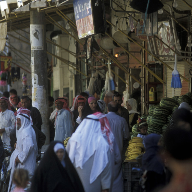 """MIDDLE EAST SYRIA DEIR EZ ZUR MARKET"" stock image"