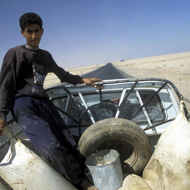 """MIDDLE EAST SYRIA DEIR EZ ZUR ROAD OT IRAQ"" stock image"
