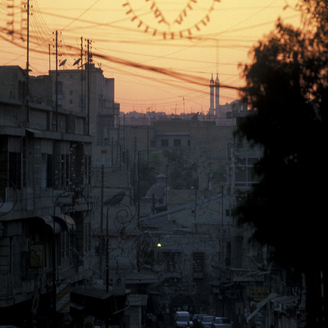 """""""MIDDLE EAST SYRIA ALEPPO OLD TOWN HEART"""" stock image"""