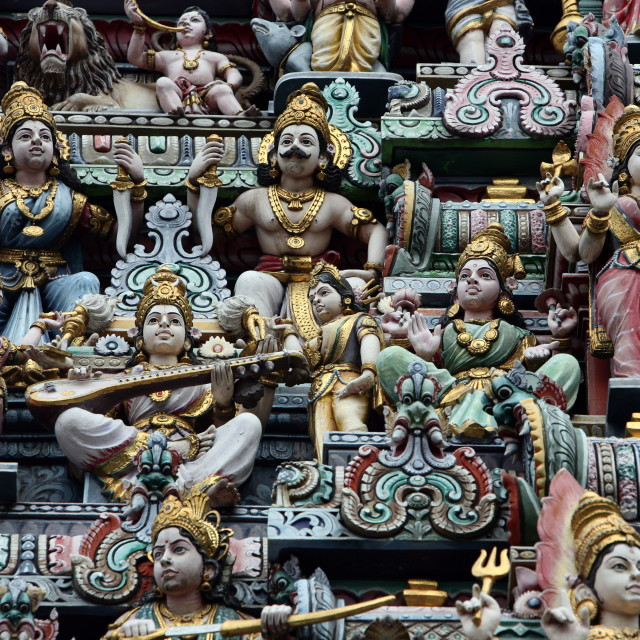 """""""ASIA SINGAPORE CITY DOWN TOWN LITTLE INDIA TEMPLE"""" stock image"""