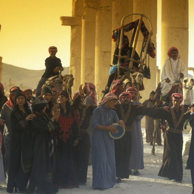 """MIDDLE EAST SYRIA PALMYRA PEOPLE"" stock image"